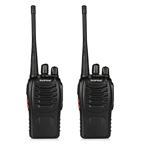 BaoFeng BF-888S Walkie Talkie 2pcs in One Box with Rechargeable Battery Headphone Wall... by