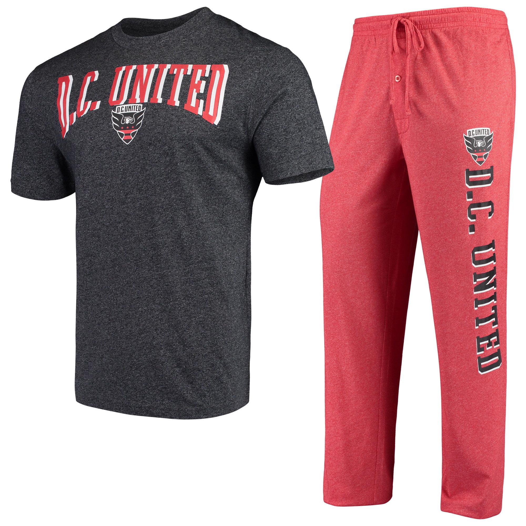 D.C. United Concepts Sport Spar Pants & Top Sleep Set - Red/Charcoal