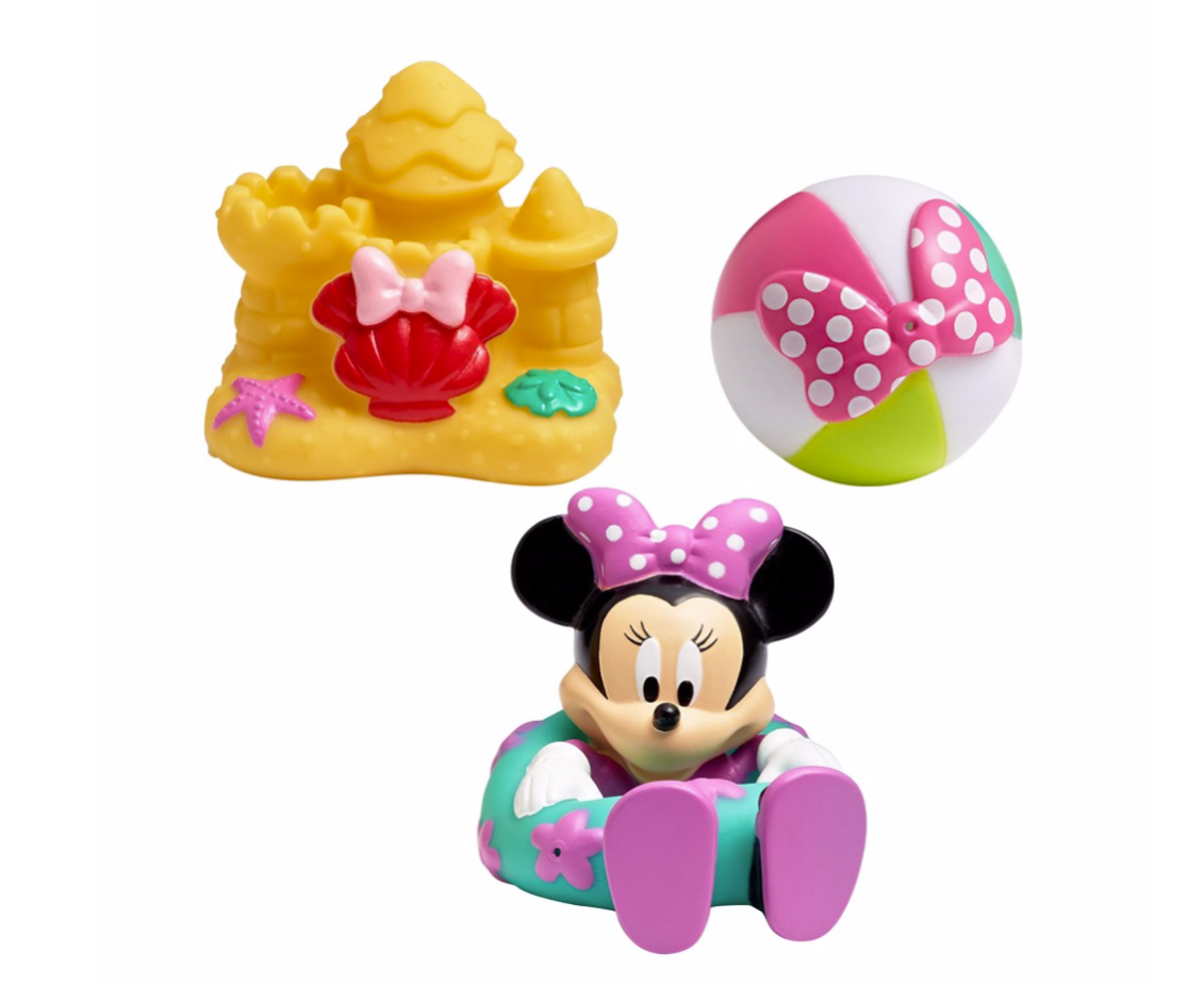 The First Years Disney Minnie Mouse Bath Squirt Toys, 3 Pack by The First Years