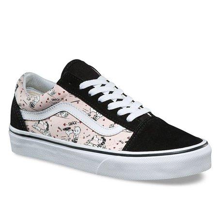 933138d10512 Vans - NEW Men Vans Peanuts Old Skool Smack Pearl Pink White Snoopy Charlie  Brown - Walmart.com