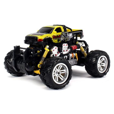 Graffiti Dodge Ram Rc Off Road Monster Truck 1 18 Scale 4 Wheel Drive Rtr  Working Hinged Spring Suspension  Perform Various Drifts  Colors May Vary