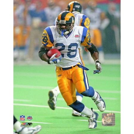 Marshall Faulk Super Bowl XXXIV Action Photo Print