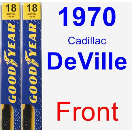 1970 Cadillac DeVille Wiper Blade Set/Kit (Front) (2 Blades) - Premium