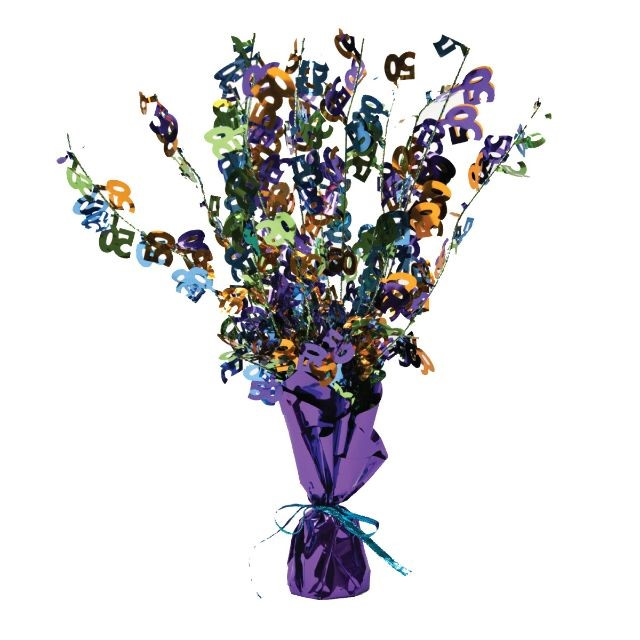 Image of Access Bright And Bold 50th Birthday Centerpiece Foil Spray, 1 Ct