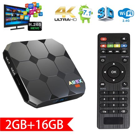 Sawpy A95X TV Box Android 7.1 R2 TV Box amlogic S905W Quad  Core 64 Bit 2 GB Ram 16 GB Rom 4K UHD WiFi & LAN VP9 DLNA (Best Android Tv Box August 2019)