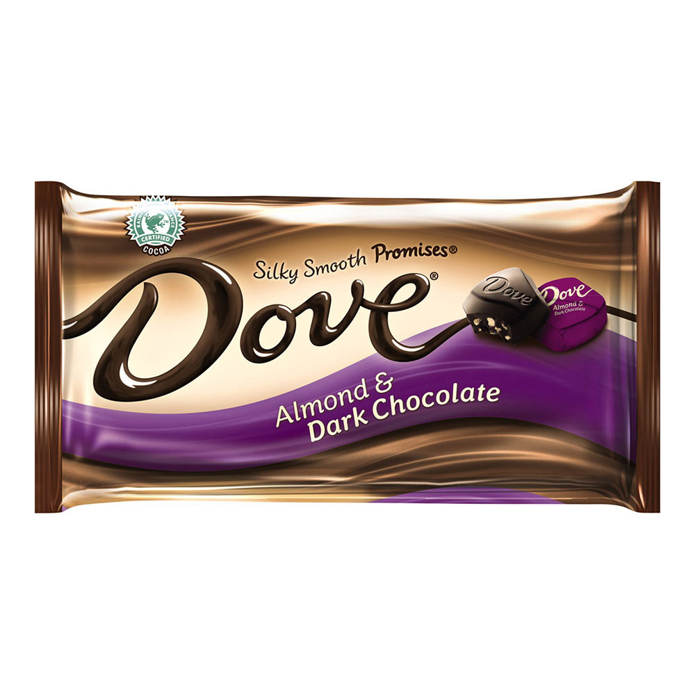 DOVE PROMISES Dark Chocolate Almond Candy Bag, 7.94 oz