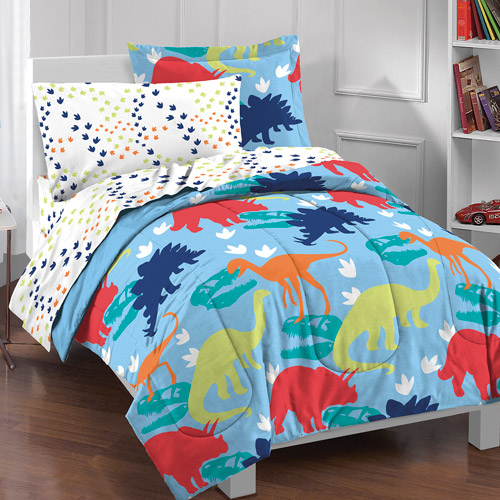 Dream Factory Dinosaur Bed in a Bag Bedding Set by CHF Industries Inc