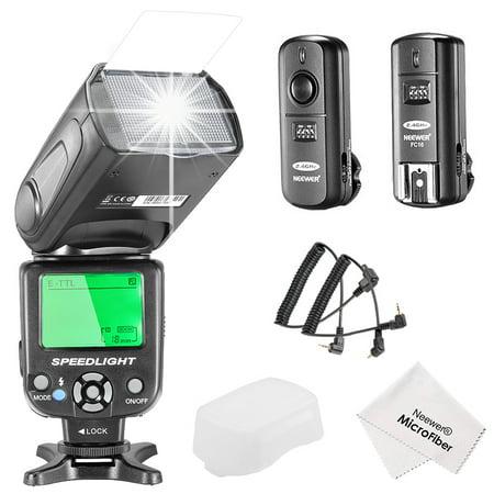 Neewer NW562C E-TTL Slave Flash Speedlite Kit for Canon DSLR