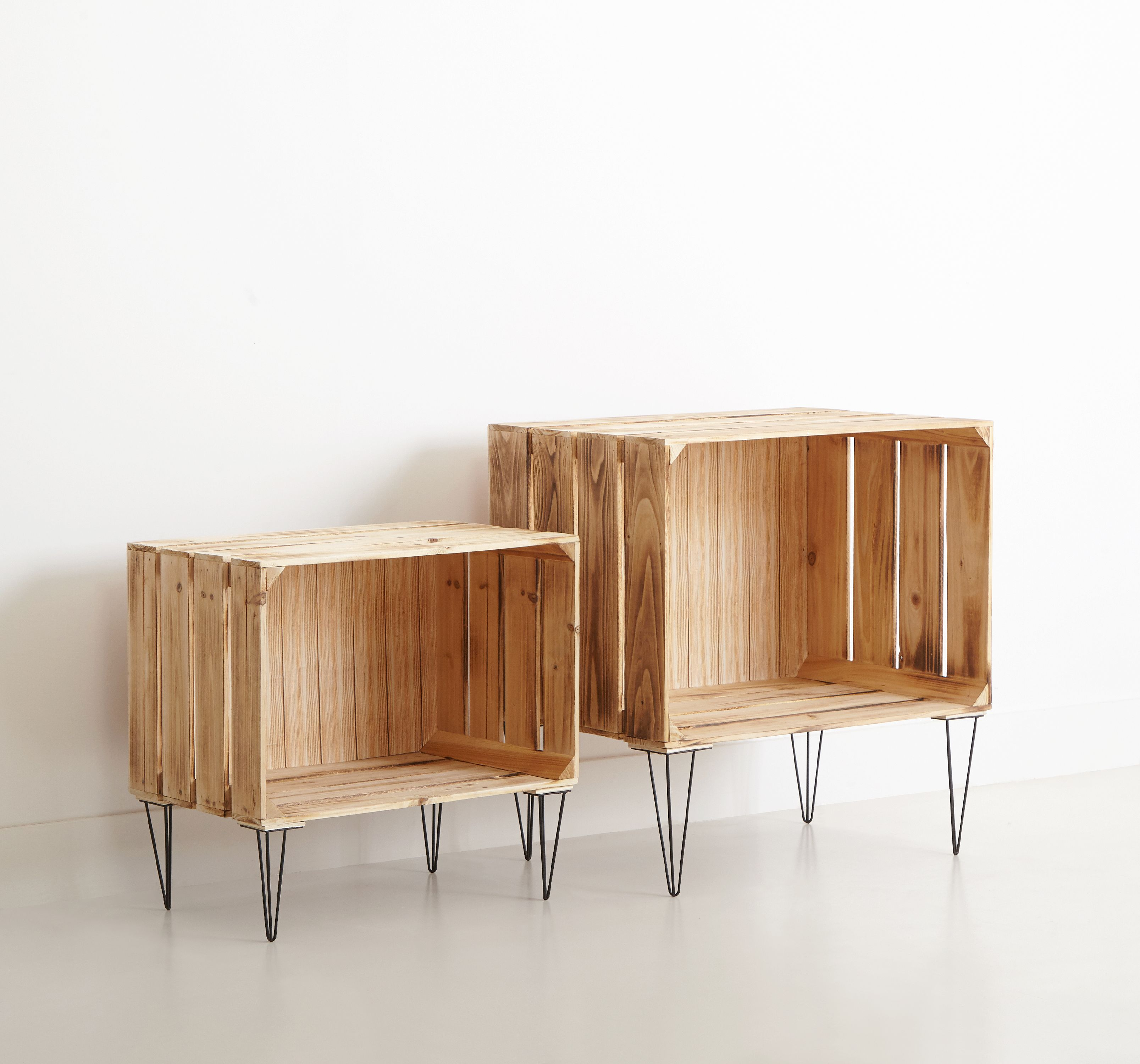 Wooden Nested Furniture Storage Crates
