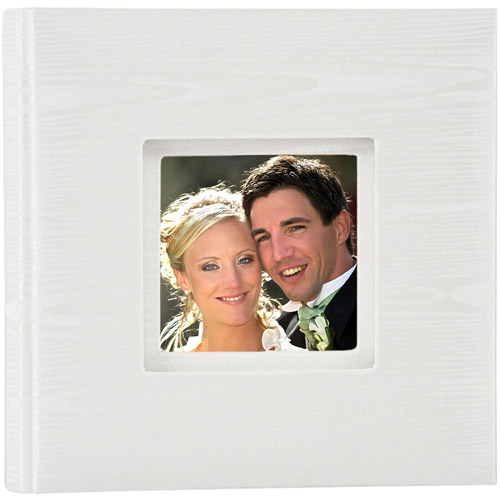 Pinnacle Frames Photo Album, White Fabric