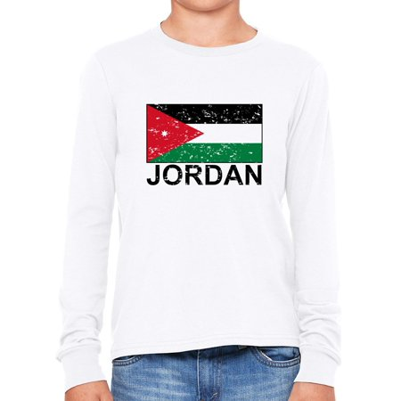 Jordan Flag - Special Vintage Edition Girl's Long Sleeve T-Shirt ()