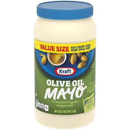 Kraft Mayo Olive Oil (Kraft Mayo Reduced Fat Mayonnaise with Olive Oil, 48 fl oz Jar )