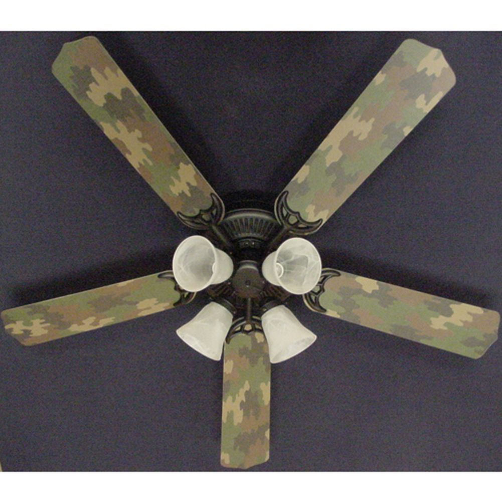 Ceiling Fan Designers Cool Sand Camouflage 52in Ceiling F...