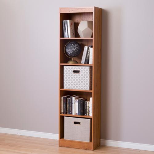 South Shore Axess 5-Shelf Narrow Bookcase Royal Cherry by Overstock