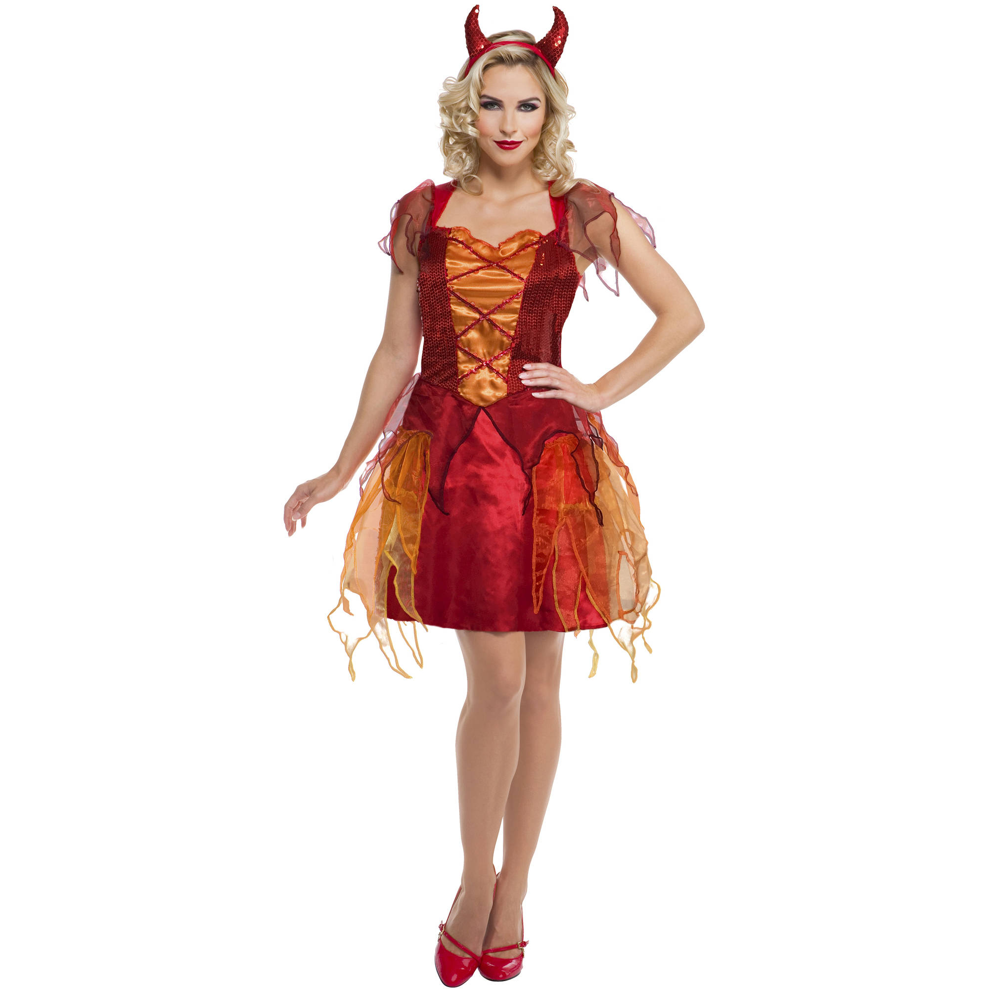 Fiery Devil Womens Halloween Costume, Small