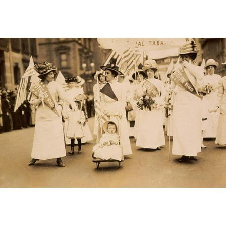 Suffrage Parade NYC 1912 Print Wall Art