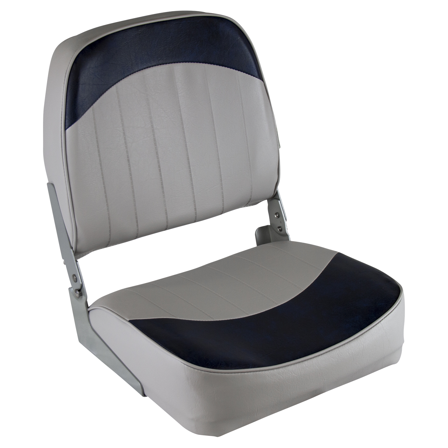 Wise 8WD734PLS-660 Low Back Boat Seat, Grey / Navy