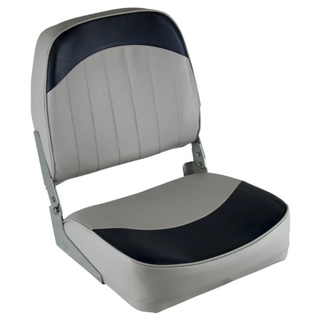Wise 8WD734PLS-660 Low Back Boat Seat, Grey / - Wise Pilot Boat Chair