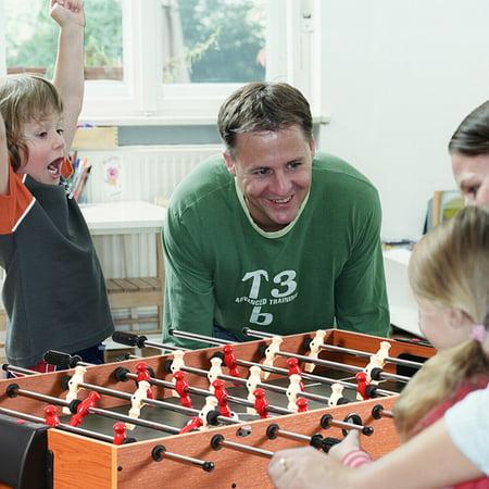 48'' 3-In-1 Multi Combo Game Table Foosball Soccer Billiards Pool Hockey Kids - image 7 of 10