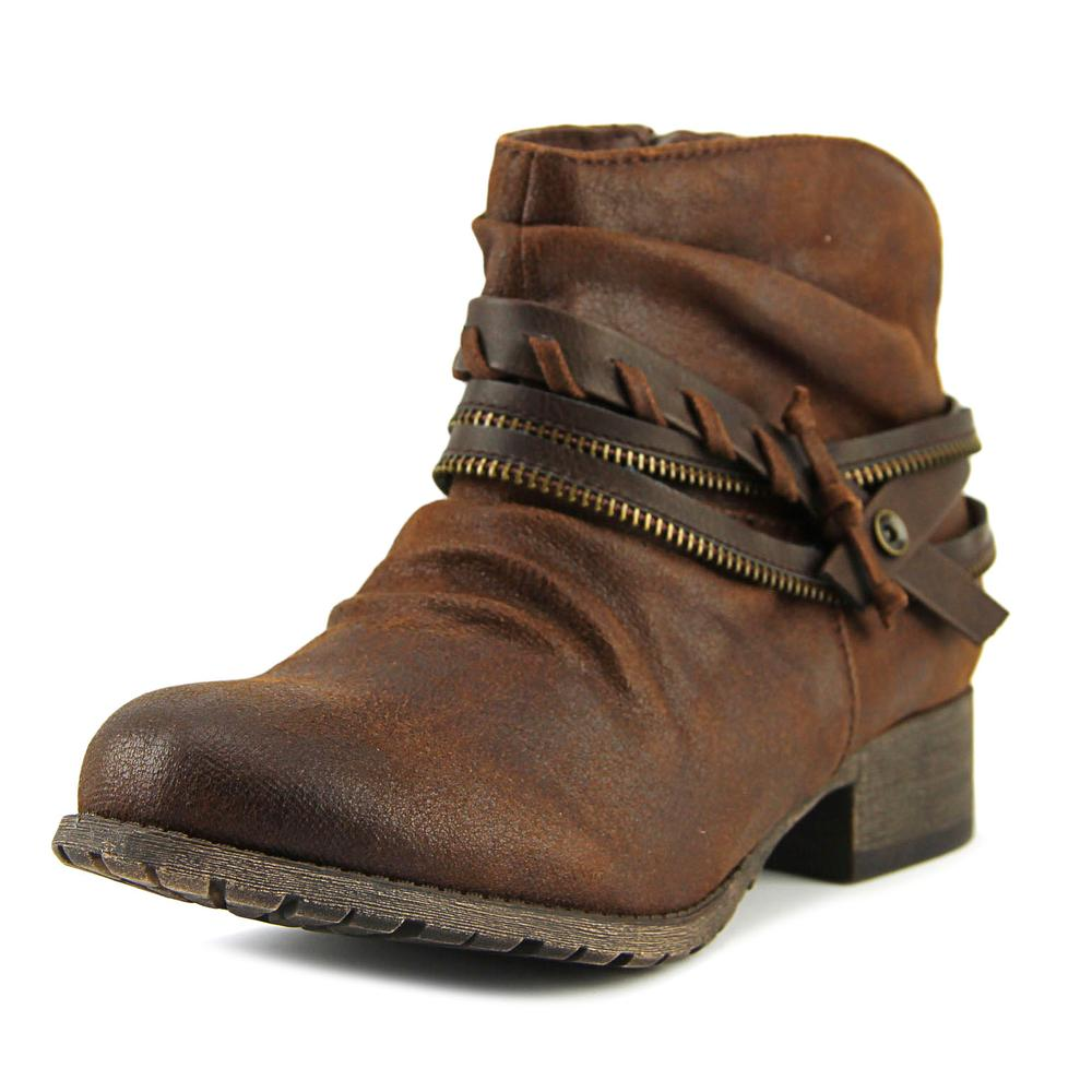 Jellypop Veda Women  Round Toe Synthetic Brown Ankle Boot