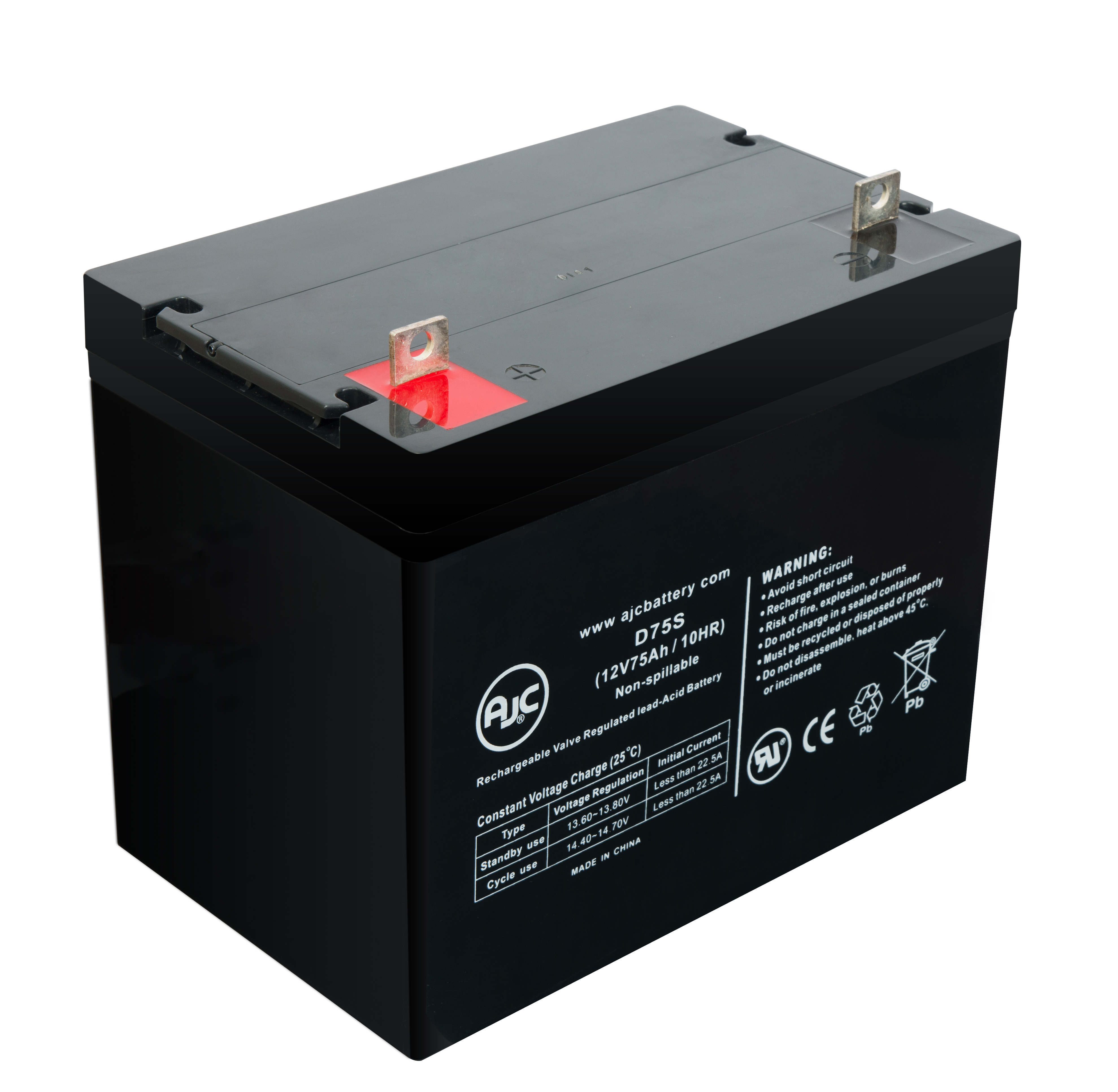 Palmer Industries Heavy Duty Power Chair GP24 AGM 12V 75Ah Battery - This is an AJC Brand® Replacement