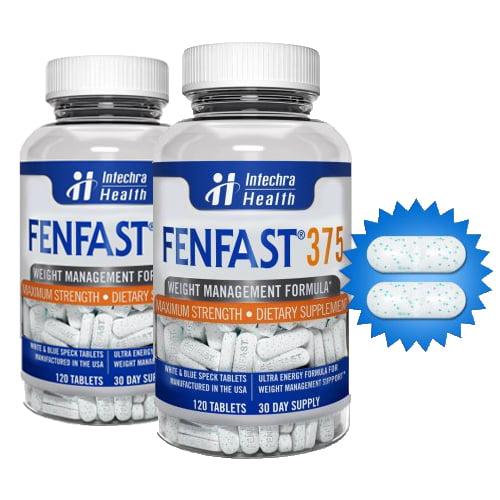 (2 Pack) FENFAST 375 Maximum Strength Dietary Supplement, Weight Management Formula, 120 Count