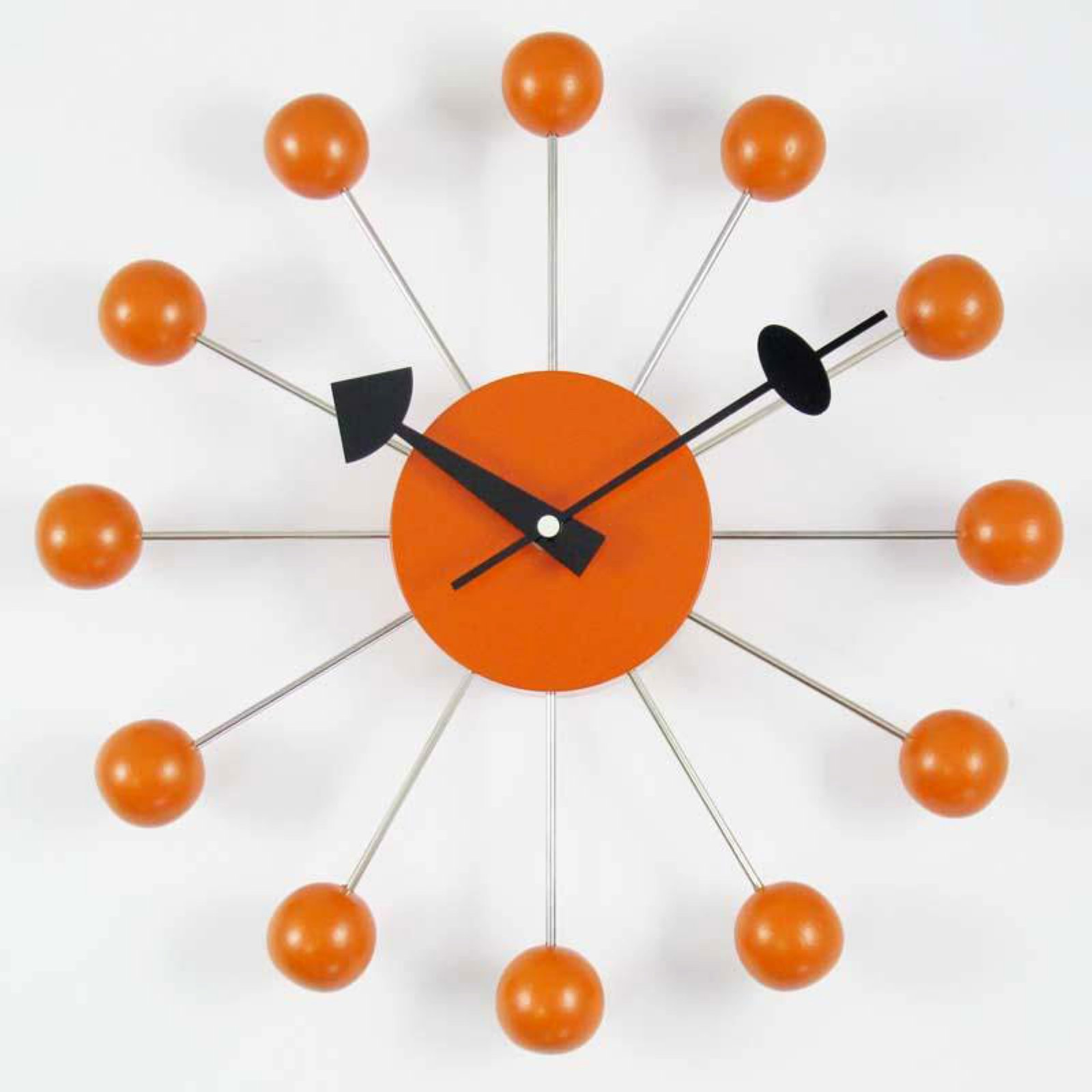 George Nelson Ball 13 in. Wall Clock - Orange