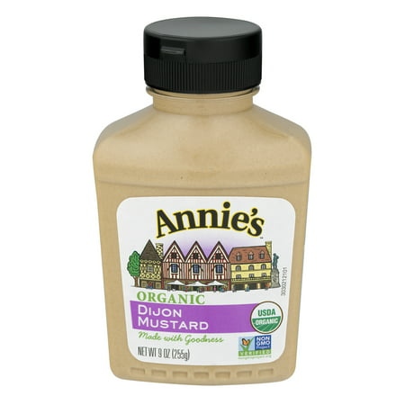 (2 Pack) Annie's® Organic Dijon Mustard 9 oz. Bottle, 9.0 OZ (Dijon Mustard Gluten Free)