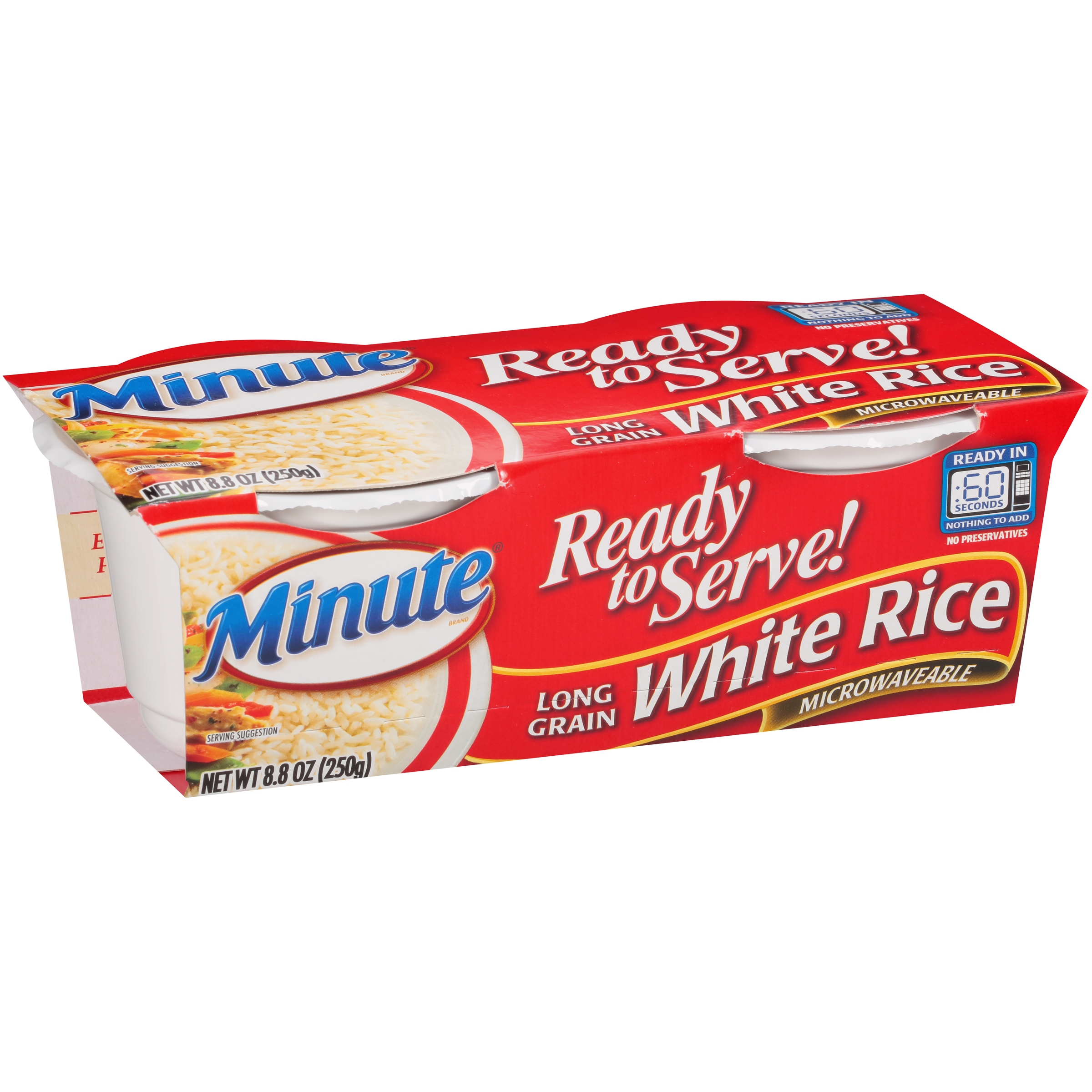 Minute Ready to Serve Long Grain White 4.4 Oz Rice 2 Ct Cups