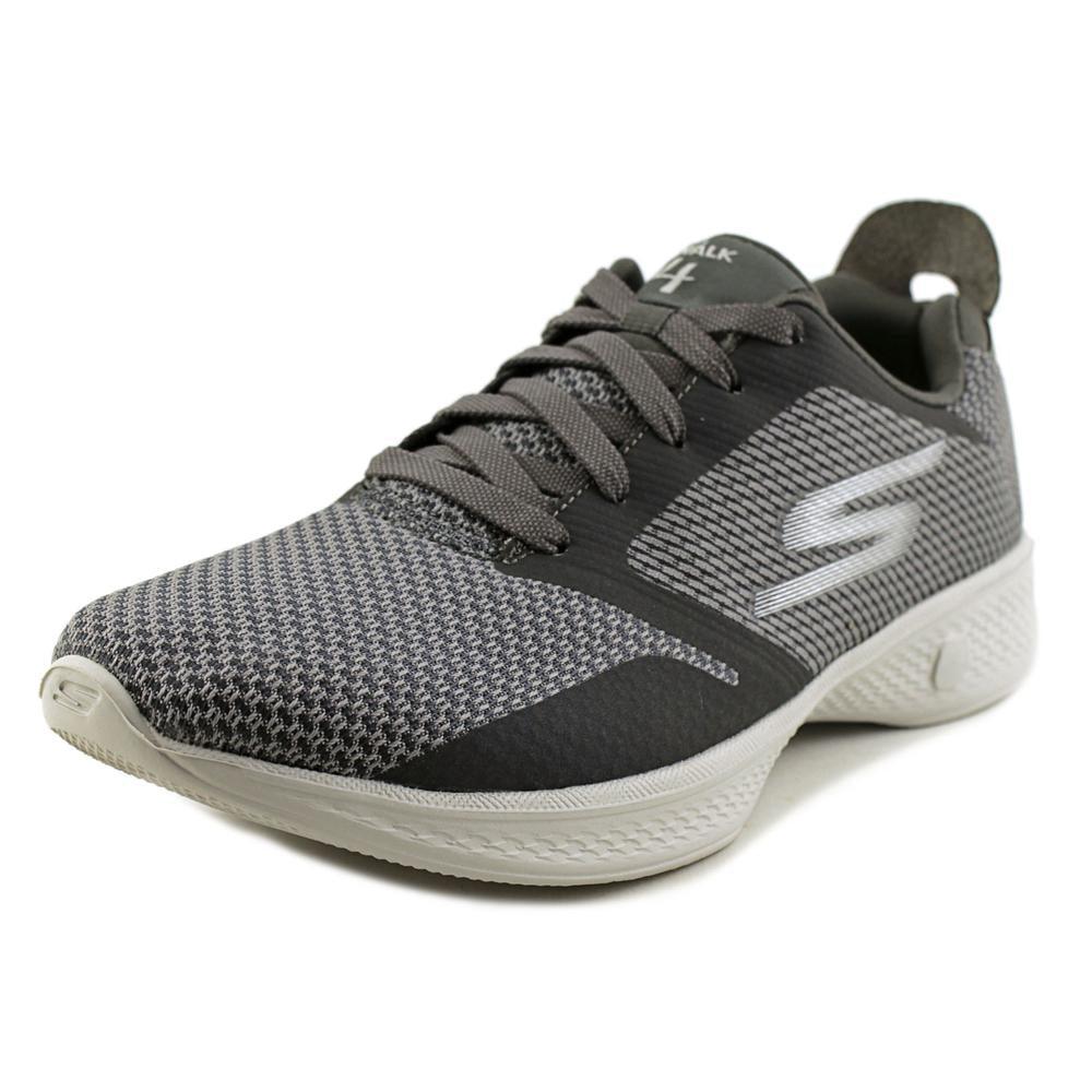 Skechers Go Walk 4-Fascinate Women Round Toe Canvas Gray Walking Shoe by Skechers