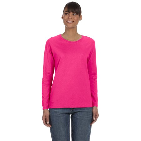 Gildan G540L Women's Long Sleeve T-Shirt -Heliconia-2X-Large