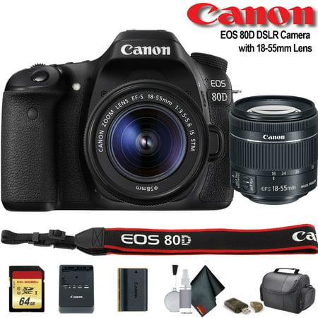 Canon EOS 80D DSLR Camera with 18-55mm Lens - Starter Bundle