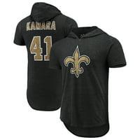 3c4ef9cb1e92 Product Image Alvin Kamara New Orleans Saints Majestic Threads Name    Number Tri-Blend Hooded T-