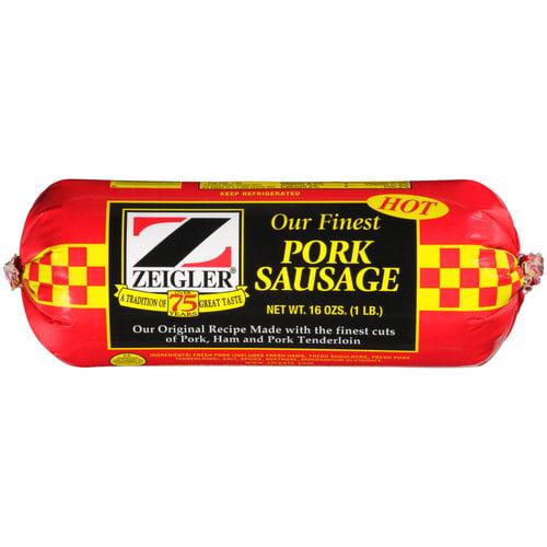 Zeigler Finest Pork Sausage Roll 1 Lb