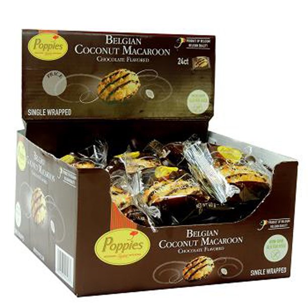 Poppies Belgian Chocolate Flavored Coconut Macaroons Box Of 24 Walmart Com Walmart Com