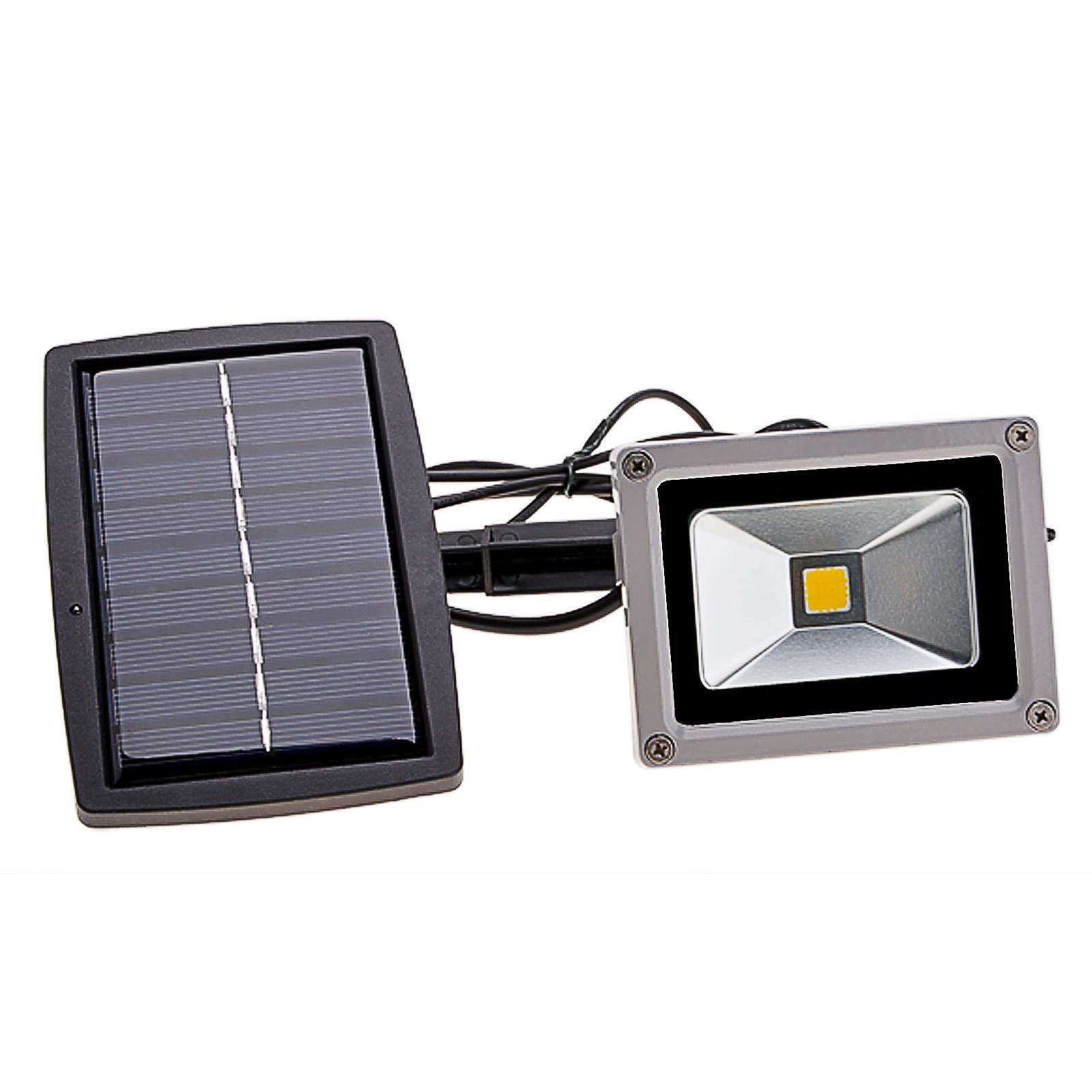 10W Solar Power LED Flood Night Light Garden Spotlight Waterproof Outdoor Lamp Warm White WSY by