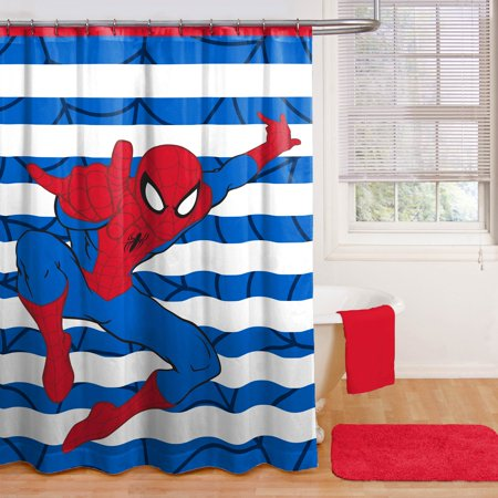 Spiderman Fabric Shower Curtain, 1 Each