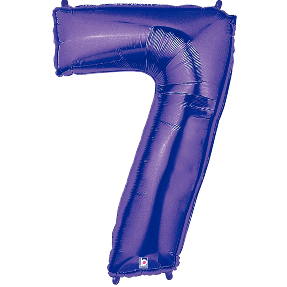 Giant Purple Number 7 Foil Balloon 40""