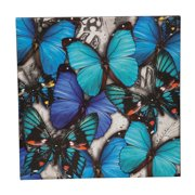 Layered Butterflies Large Vibrant Outdoor Wall Canvas