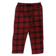 Northcrest Mens Red Plaid Flannel Sleep Pants Pajama Bottoms 2X