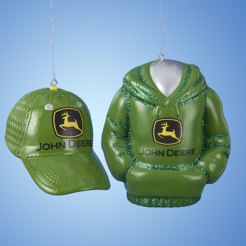 Club Pack of 12 John Deere Hat and Hoodie Decorative Christmas ...