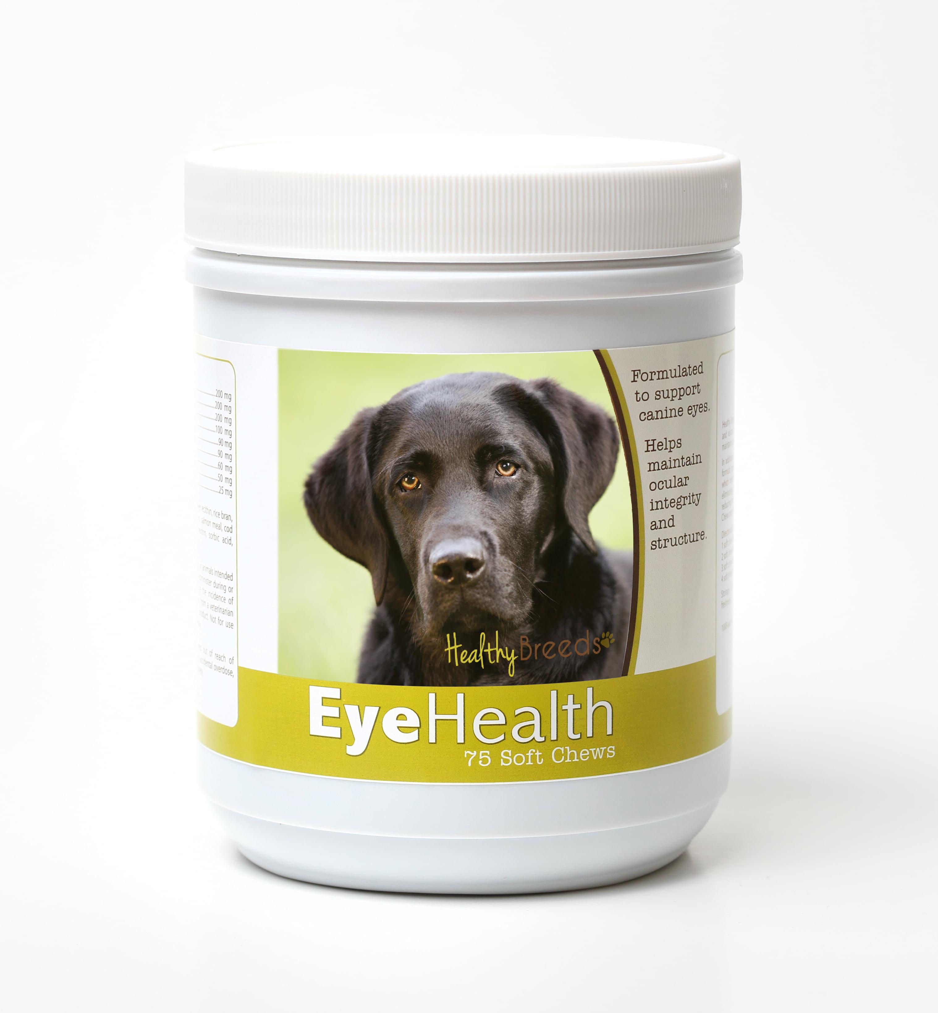 Healthy Breeds Dog Eye Health Support Soft Chews for Labrador Retriever 75 Count