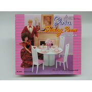 Gloria Dinning Room Play Set for Barbie dolls and Dollhouse
