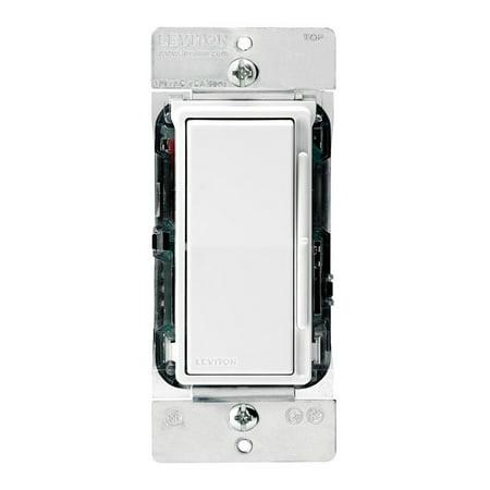 Leviton DS710-10Z Dimmer Electronic 0-10VDC Fluorescent Single-Pole/3-Way 1200VA/1500VA 120/277 Volt Decora Rocker Slide Decora Style Electro-Mechanical - White Ivory Light Almond Ivory Decora Slide