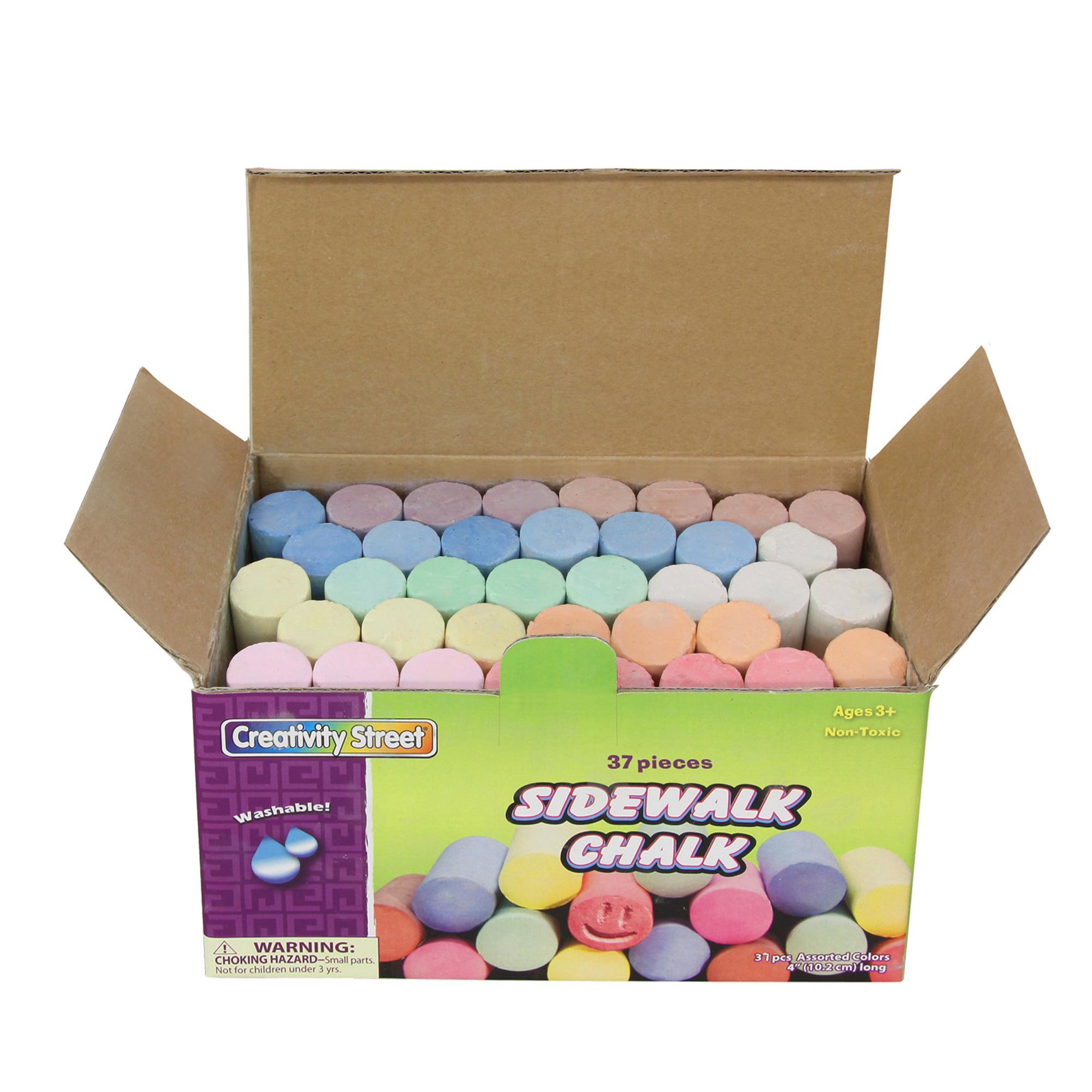 Creativity Street® Sidewalk Chalk, 3 Boxes of 37 Pieces