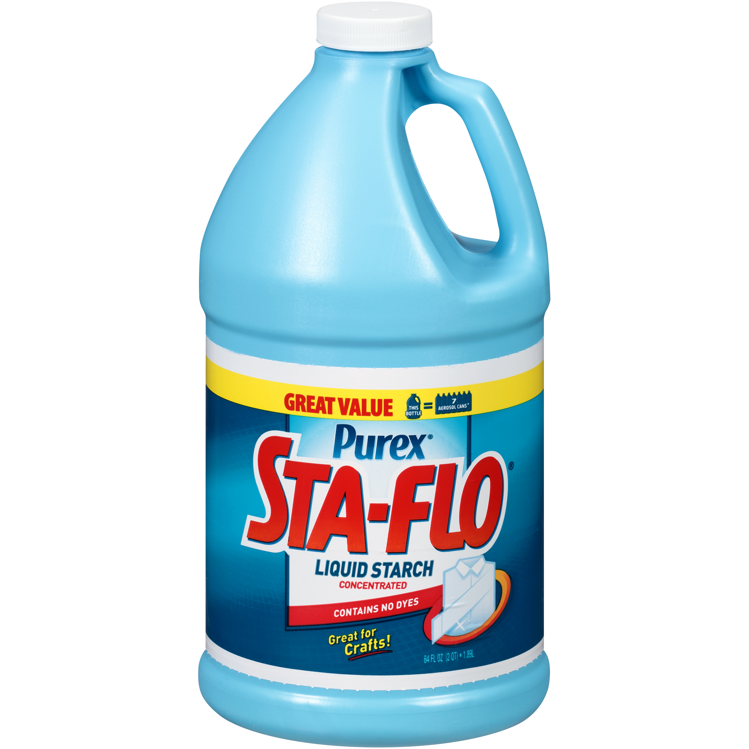 Purex Sta Flo Liquid Starch, Great for Crafts, Concentrated, 64 Ounce