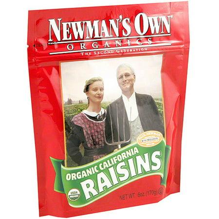 Newmans Own Organics Raisins (Newman's Own Organics Raisins, 6 oz, (Pack of 12) )