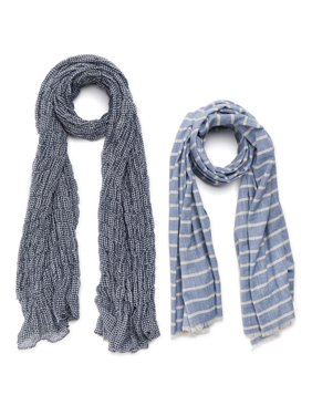 Time and Tru Women's Oblong Scarf 2 Pack