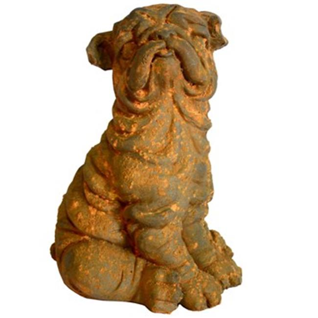Michael Carr Designs MCD200147RUST Liconfiber Statue, Rusty Dog - 11 inch