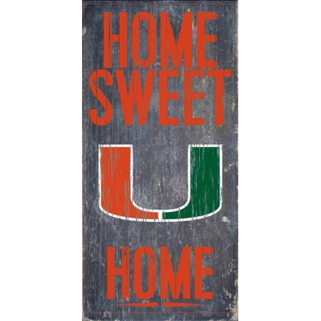 Miami Hurricanes Colors (Miami Hurricanes Wood Sign - Home Sweet Home 6